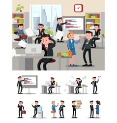 Office atmosphere composition vector