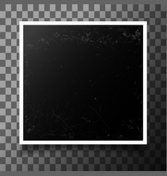 photo frame with shadow vector image