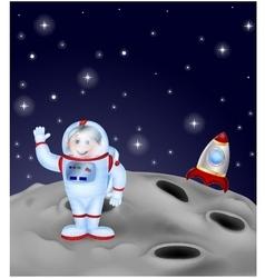 Astronaut landing on the moon vector