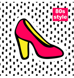 fashion card in pop art vector image