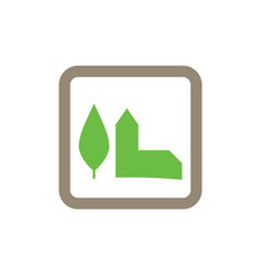 green building icon logo vector image