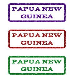 Papua new guinea watermark stamp vector