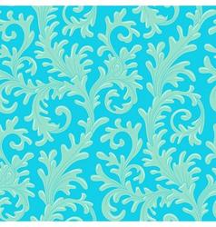 pattern baroque blue vector image vector image