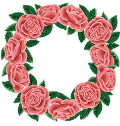 Rose wreath vector image