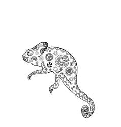 Zentangle stylized chameleon vector image vector image