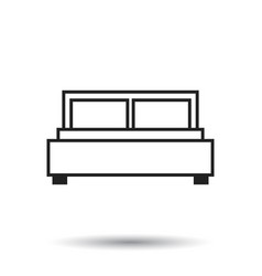 Bed isolated on white background bed icon vector