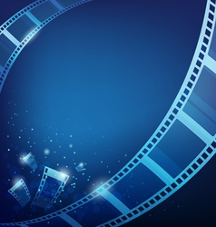 film for photos blue background vector image vector image