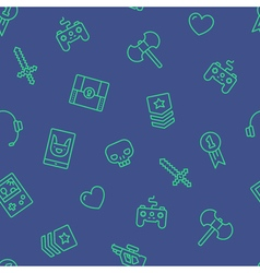 Gamer Icons Background vector image vector image
