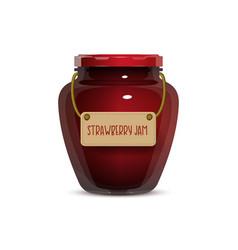 glass jam jar on white background vector image vector image