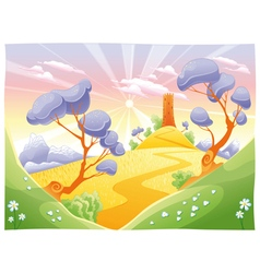 Landscape with tower vector image vector image