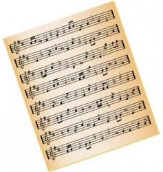 music sheet vector image vector image