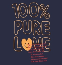 pure love vector image vector image