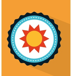 sun icon design vector image vector image