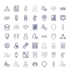 49 profile icons vector