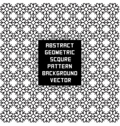 Abstract geometric square pattern vector