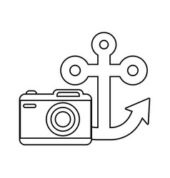 anchor marine with camera photography vector image