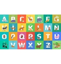 Animals Alphabet Letter from A to Z vector