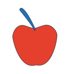 Apple fruit fresh nutrient vitamins food vector