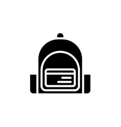 Backpack icon isolated eps10 vector