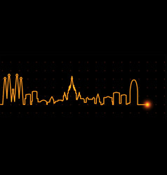 Barcelona light streak skyline vector