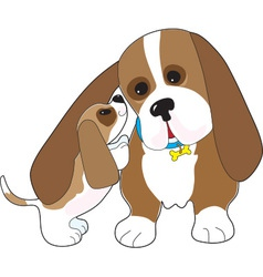 Basset talk dad vector