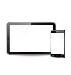 Blank smartphone and tablet computer vector