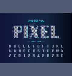Bold font and alphabet modern typeface and vector