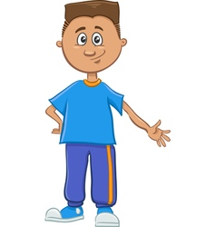 Boy character with book vector