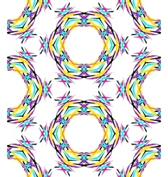 Bright Round Kaleidoscopic Pattern vector image