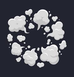Cartoon dust cloud comic dust cloud explosion vector