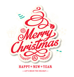 Christmas logo new year image vector