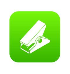 clothespin icon green vector image