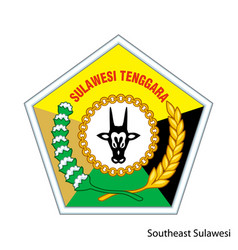 Coat arms southeast sulawesi vector