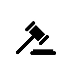 Court icon flat vector