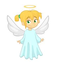 cute happy cartoon girl vector image