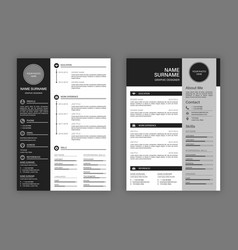 Cv templates professional resume letterhead vector