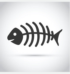 Dead fish skeleton vector