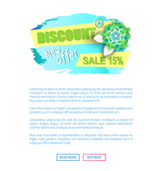 Discount new offer sale 15 percent off web vector