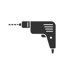 Drill black icon vector