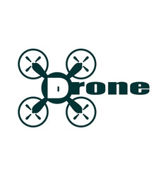 drone icon drone text vector image