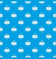 Duffel pattern seamless blue vector