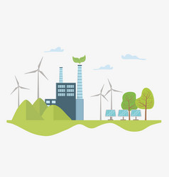 Eco city and save planet design vector