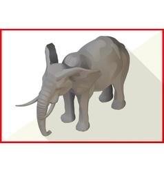 Elephant isometric flat 3d vector