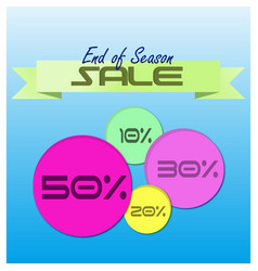 end of season sale vector image