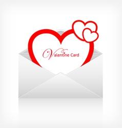 Envelope letter modern red heart card vector