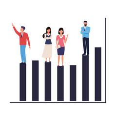 Executive business entrepreneur teamwork vector