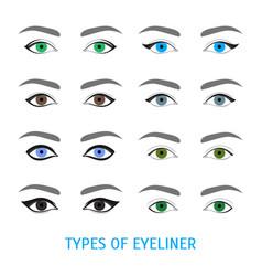 Eyeliner stylish make up thin line poster vector