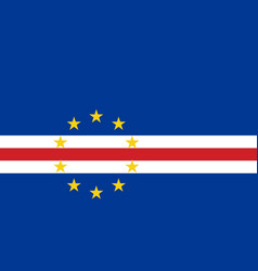 flag in colors of cape verde image vector image