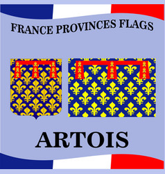 Flag of french province artois vector