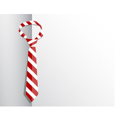 flat red tie on white background business concept vector image